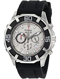 Bulova Men's Marine Star 96B152 Silver Polyurethane Quartz Watch