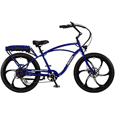 "Pedego Interceptor 26"" Classic Neon Blue with Mag Wheels 48V 15Ah"