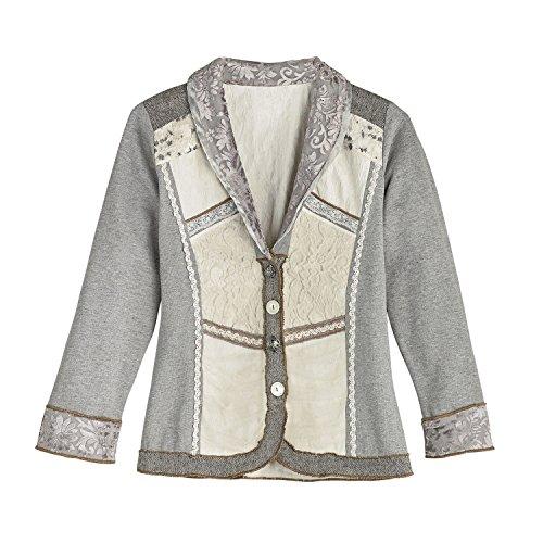 Parsley & Sage Women's Fashion Jacket - Lady Jane Long Sleeve Blazer - Jersey Knit - 2X -Size 20-22 ()