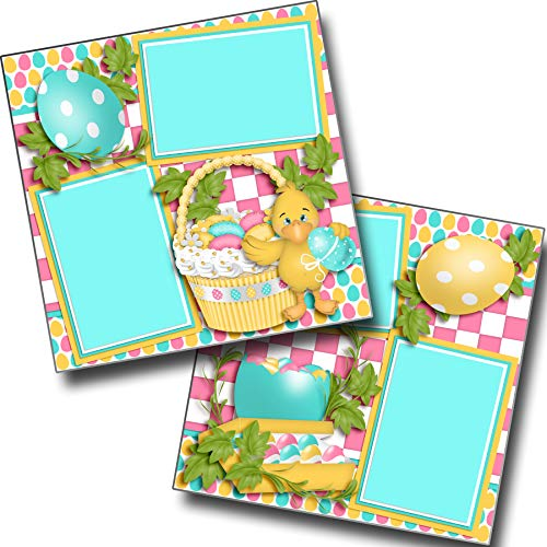 Ducky's Basket - Premade Scrapbook Pages - EZ Layout 3738