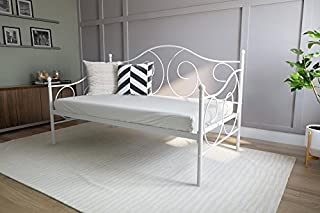 DHP Victoria Twin Size Metal Daybed, White Finish (B00HB57EQA) | Amazon Products