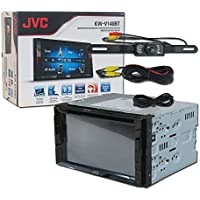 JVC Double DIN KW-V140BT 2DIN Car Audio 6.2 Touchscreen DVD CD Stereo USB Bluetooth + DCO Waterproof Backup Camera with Nightvision (Optional Camera)