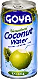 Goya Foods Unsweetened Coconut Water, 11.8-Ounce (Pack of 24)