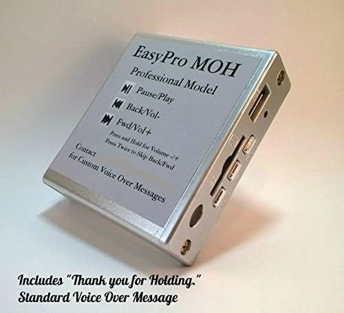 Music on Hold Plus Message on Hold MOH MP3 Player for Phone System PBX Key w/Remote -  EasyPro MoH, EPPM0515