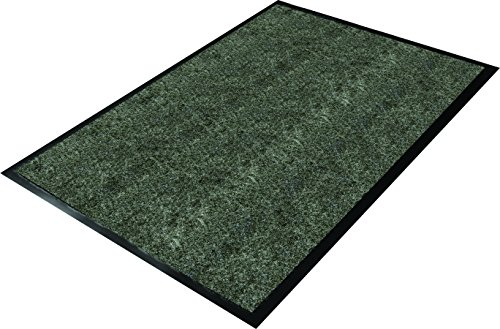 Scraper Mat Charcoal - Guardian 64041030CHEV Golden Series Chevron Indoor Wiper Floor Mat, Vinyl/Polypropylene, 4' x 10', Charcoal