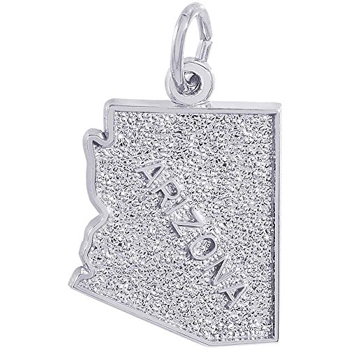 Rembrandt Charms Arizona Charm, Sterling - Charm Silver Sterling Arizona State