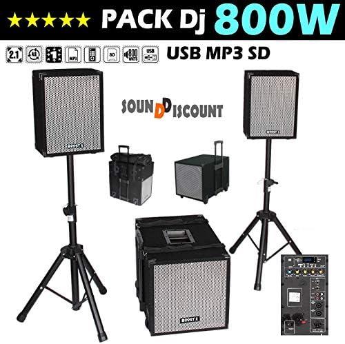 Pack Sono DJ BOOST1208 + Altavoces + Caja amplificada + patas + ...