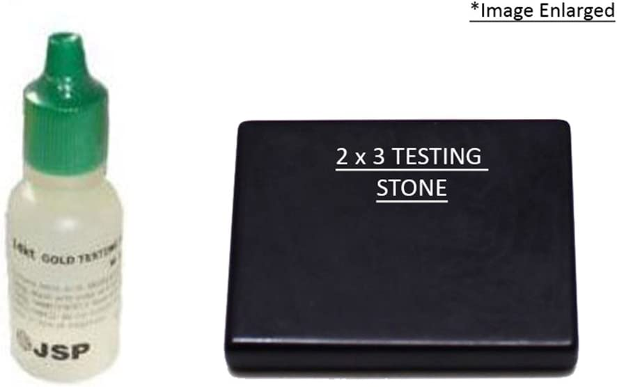 JSP 14k Gold Testing Solution and 2x3 Testing Stone