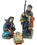 Holy Family Nativity Set 3 Piece Crib Scene Advent Christmas Decoration