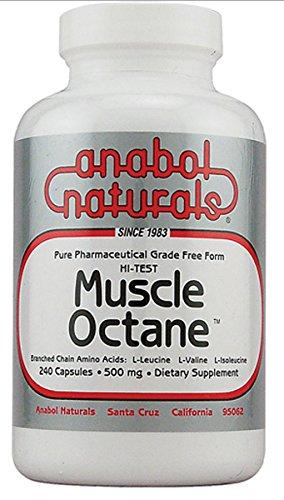 Hi-Test Muscle Octane BCAA's Anabol Naturals 240 Caps