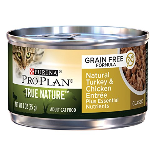 Purina Pro Plan True Nature Classic Grain-Free Formula Natural Turkey & Chicken Entree Adult Wet Cat Food - (24) 3 Oz. Pull-Top Cans