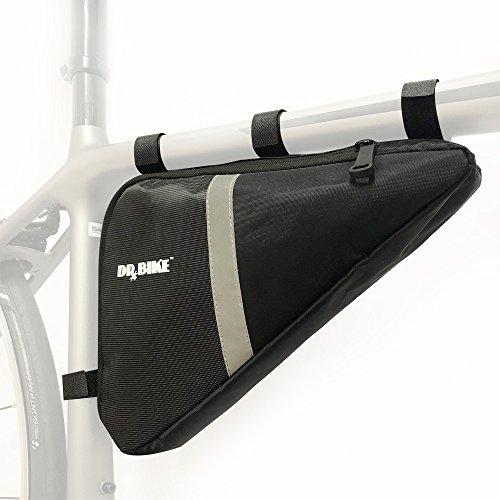 Mtb Bike Frames - DRBIKE Bike Frame Storage Bag, Bicycle Triangle Strap-On Pouch for Road Bike & MTB, Cycling Toptube Pack
