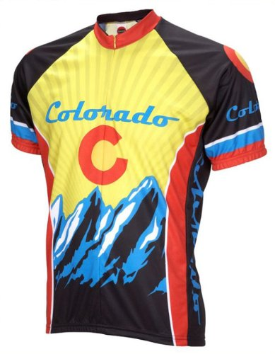 Colorado Cycling Jersey World Jerseys Men's XL Short Sleeve by World (Colorado Cycling Jersey)