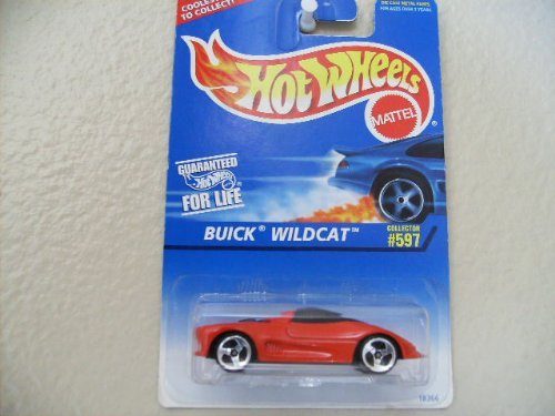 - Hot Wheels Buick Wildcat 1997 597 Red, W/no Tampos, Black Malaysia Base, W/3sp's
