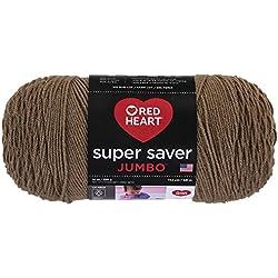 Red Heart Super Saver Jumbo Yarn, Cafe Latte