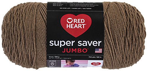 (Red Heart Super Saver Jumbo Yarn, Cafe Latte)