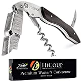Waiters Corkscrew by HiCoup - Professional Ebony