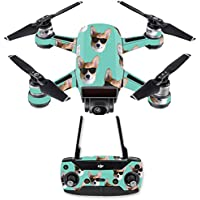 Skin for DJI Spark Mini Drone Combo - Cool Corgi| MightySkins Protective, Durable, and Unique Vinyl Decal wrap cover | Easy To Apply, Remove, and Change Styles | Made in the USA