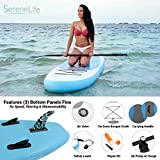 SereneLife Inflatable Stand Up Paddle Board