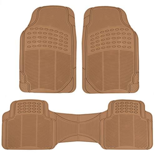 Pro Liner Original 3pc Heavy-Duty Front & Rear Rubber Floor Mats for Car SUV Van & Truck - All Weather Protection Universal Fit - Custom Van Mats