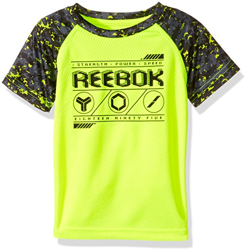 Price comparison product image Reebok Big Boys' Active Short Sleeve T-Shirt, Safety Yellow, S (8)