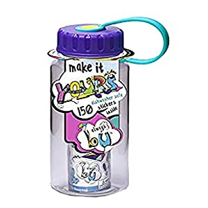 Always B U Make It Yours 12 Oz Water Bottle with Stickers - Purple