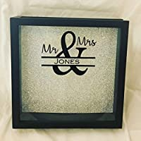 12x12 Wedding Guest Book, Wine Cork or Card Holder Shadow Box (Doubles as a Ticket Stub or Cork Holder After Wedding)