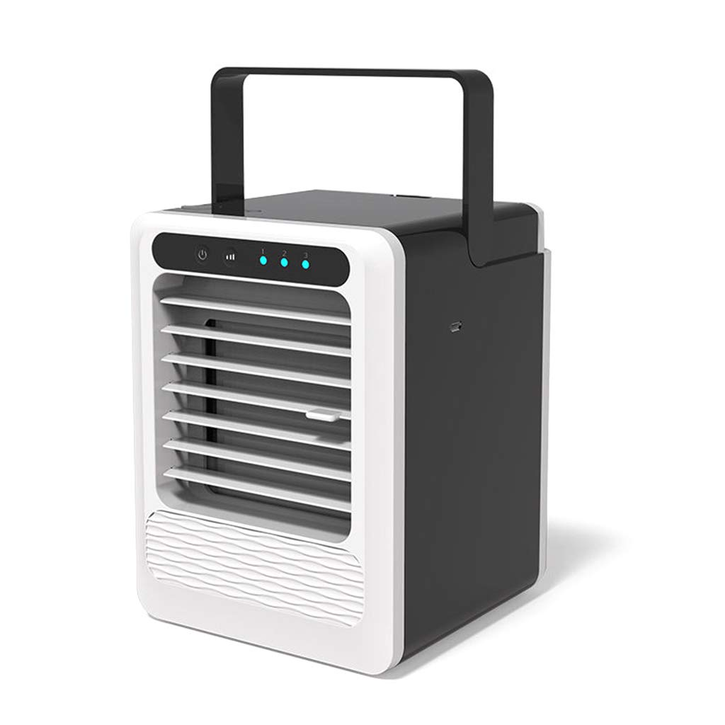 Cugap Portable Air Conditioner USB Chargeable Air Cooler 3 Speed Adjustable Mute Purifier Conditioner Humidification Fan for Home Office Desktop Supplies Humidification Purifier Fan by Cugap