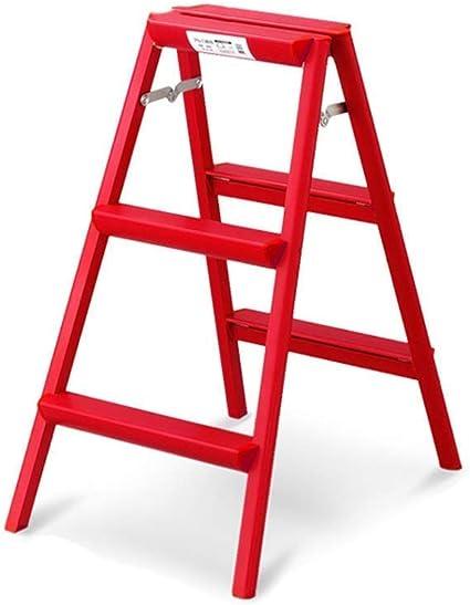 Zichen Asiento Taburete Escalera de almacenamiento Taburete/Escaleras de mano Escalera de mano Escalera plegable ligera Escalera interior y exterior Escalera simple Taburetes multifuncionales Rojo 4: Amazon.es: Instrumentos musicales