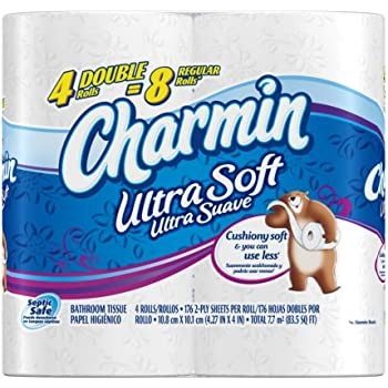 Charmin Ultra Soft Toilet Paper 4 Double Rolls (Pack Of 10)