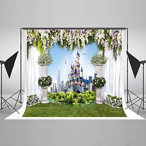 Kate 7x5ft Wedding Photo Backdrop Castle Building Photography Backdrop Outdoor Backdrop -