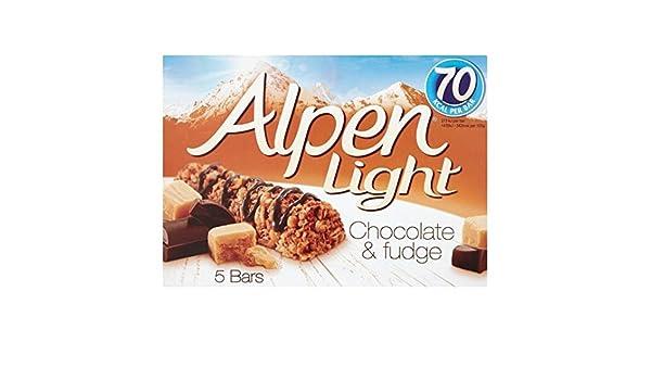 Alpen las barras claras Choc & Fudge 5 x 19g: Amazon.es: Alimentación y bebidas