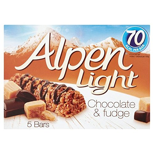Alpen las barras claras Choc & Fudge 5 x 19g