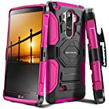 LG G Stylo Case, Evocel [New Generation Series] Belt Clip Holster, Kickstand, Dual Layer for LG G Stylo (LS770), Pink (EVO-LGLS770-XX05)