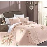 Chic Home Rosetta 5-Piece Comforter Set, King, Pink