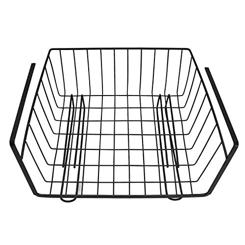 (Berry Ave Multipurpose Metal Wire Storage Basket (Black) Counter Fruit Stand, Mail Organizer, Kitchen Produce Holder | Strong, Heavy-Duty Rack | Well-Balanced Frame )