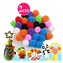 Pom-Poms Assorted Color 100 Pieces 0.7 inch Craft Making Fuzzes In Primary Colors