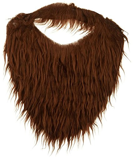 Fake Beard And Mustache (Brown Full Beard and Mustache Costume Accessory)