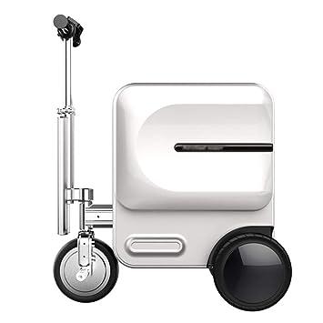 Luggage Equipaje, Equipaje, Carro eléctrico, Carro de Viaje Inteligente, Maleta multifunción, embarque (63 * 36.5 * 82.6),White: Amazon.es: Hogar