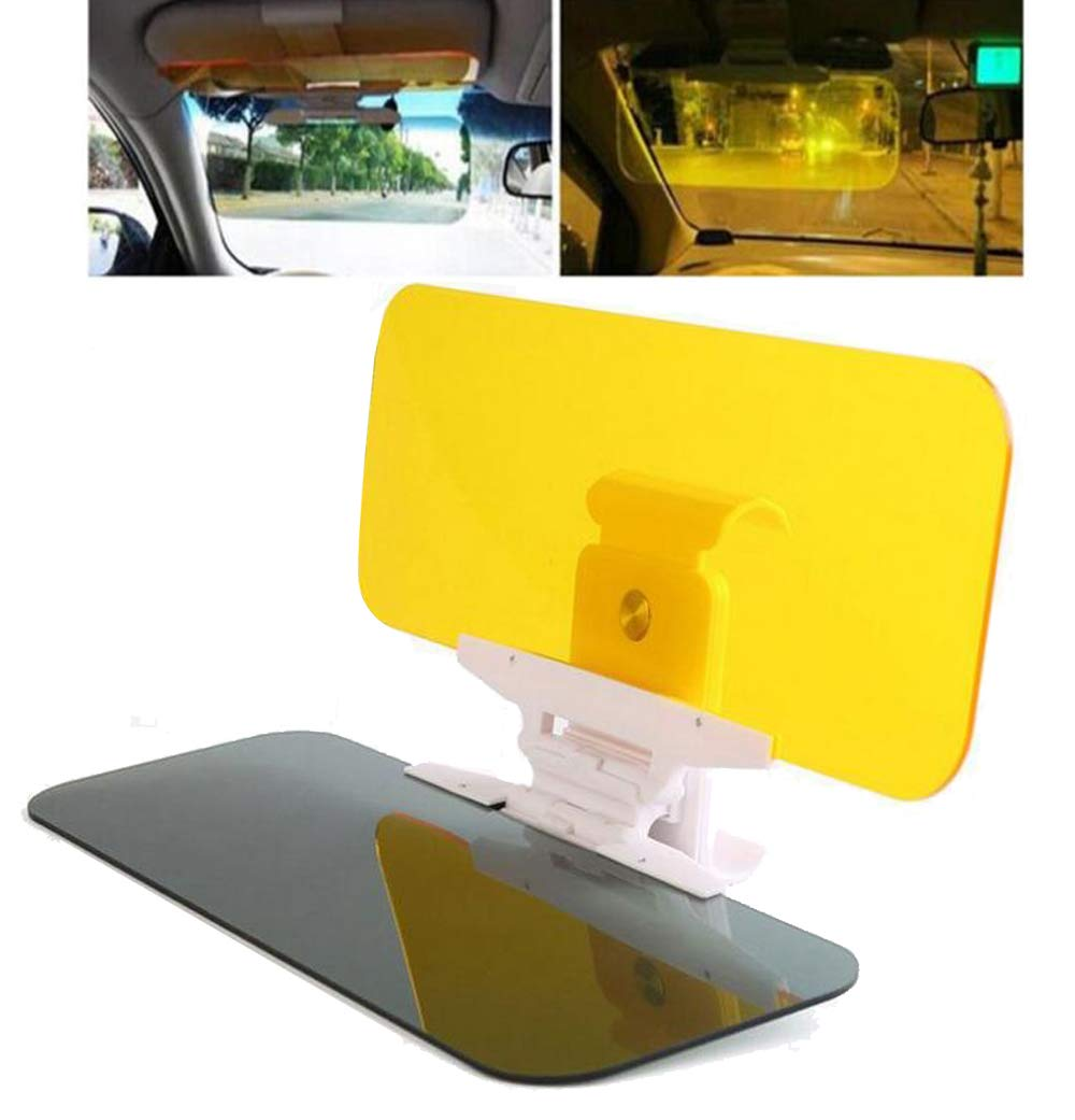 Car Anti Glare Visor, Xndryan Car Sun Visor Extension, 2-in-1 Anti Glare Day and Night Car Visor Sun Shield, Headlight/Sun Visor Extender for Safe Driving