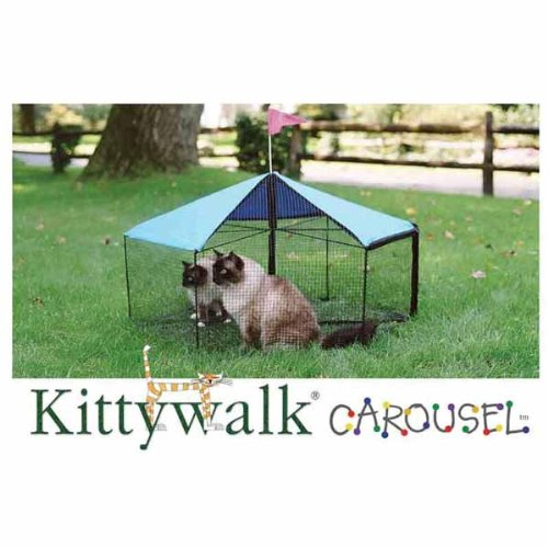 Carousel Outdoor Cat Enclosure - Green
