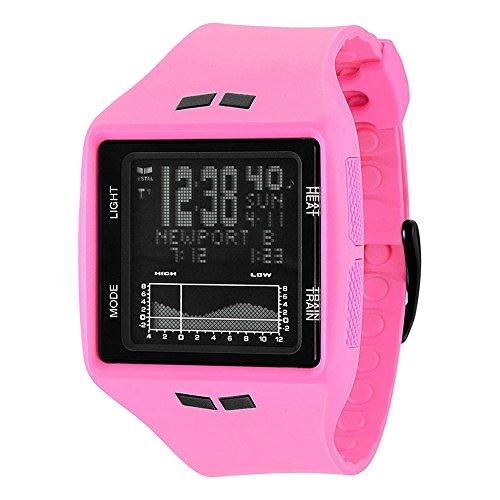 Vestal Brig Tide & Train Watch Hot Pink/Black, One Size
