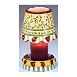 Dicksons Apple of His Eye Pillar Candle w/Shade & Base by Karla Dornacher