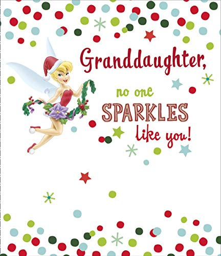 Tinkerbell No-One Sparkles Like You Granddaughter Christmas Card -
