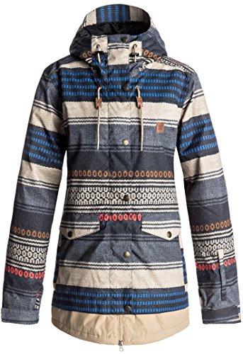 DC Women's Riji Full Zip Snow Jacket, Poncho Stripe Wms, S