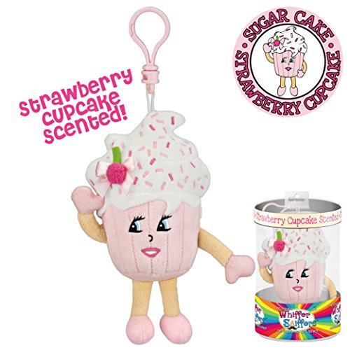 Whiffer Sniffers Sugar Cake Strawberry Cupcake Scented Backpack (Cupcake Clip)