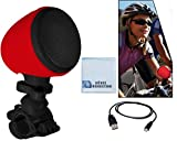 Bluetooth Bicycle Speaker w/ Microphone and Mount. For Samsung Comment 3, Samsung Galaxy S 4 Active, Samsung Galaxy Ring, Samsung ATIV Odyssey, Samsung Galaxy Note II, Samsung Galaxy S III &More Digital Devices