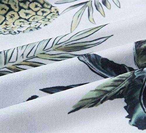 Robes De Femmes Ael Bouton Sangle Spaghetti Robe Imprimée Bohème Balancer Vers Le Bas Robe Midi Pour Les Femmes Blanches
