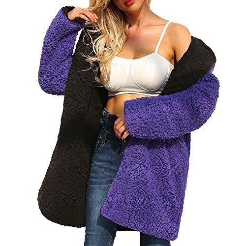 (Reversible Jacket Coats for Women Clearance Corriee Stylish Solid Long Cardigan Autumn Winter Warm Faux Fur)