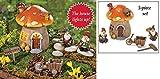 Collections Etc Mini Mushroom Gnome House Garden Set